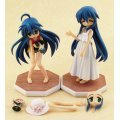 Dream Tech Lucky Star Non Scale Pre-Painted Figure: Izumi Konata & Kanata Treasures Set