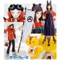 Moe Collect Plus Buddy 01 Non Scale Pre-Painted PVC Figure: Summer Wars (King Kazuma, Natsuki  &Kenji )