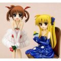 Magical Girl Lyrical Nanoha The Movie 1st 1/8 Scale Pre-Painted  PVC Figure: Takamachi Nanoha & Fate Testarossa Dress Ver.