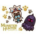 Monster Hunter Makie Sticker: Airou (Goaneko & Kirinneko)