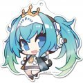 Racing Miku x Super Sonico Big Acrylic Key Ring: Hatsune Miku Racing Ver. 2015