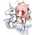 Racing Miku x Super Sonico Big Acrylic Key Ring: Sonico 2