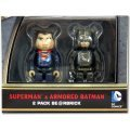BE@RBRICK Batman vs. Superman Dawn of Justice: Superman & Armored Batman (2 Pack)
