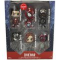 Captain America Civil War: Team Iron Man with Spider-Man Cosbaby Bobble-Head Collectible Set (Set of 6 pieces)