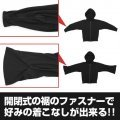 Itemya Wizard Zipper Hoodie Plain Stitch Ver. Black (M Size)