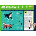 4D VISION Animal Dissection No. 29: Cat Anatomy Model Black / White