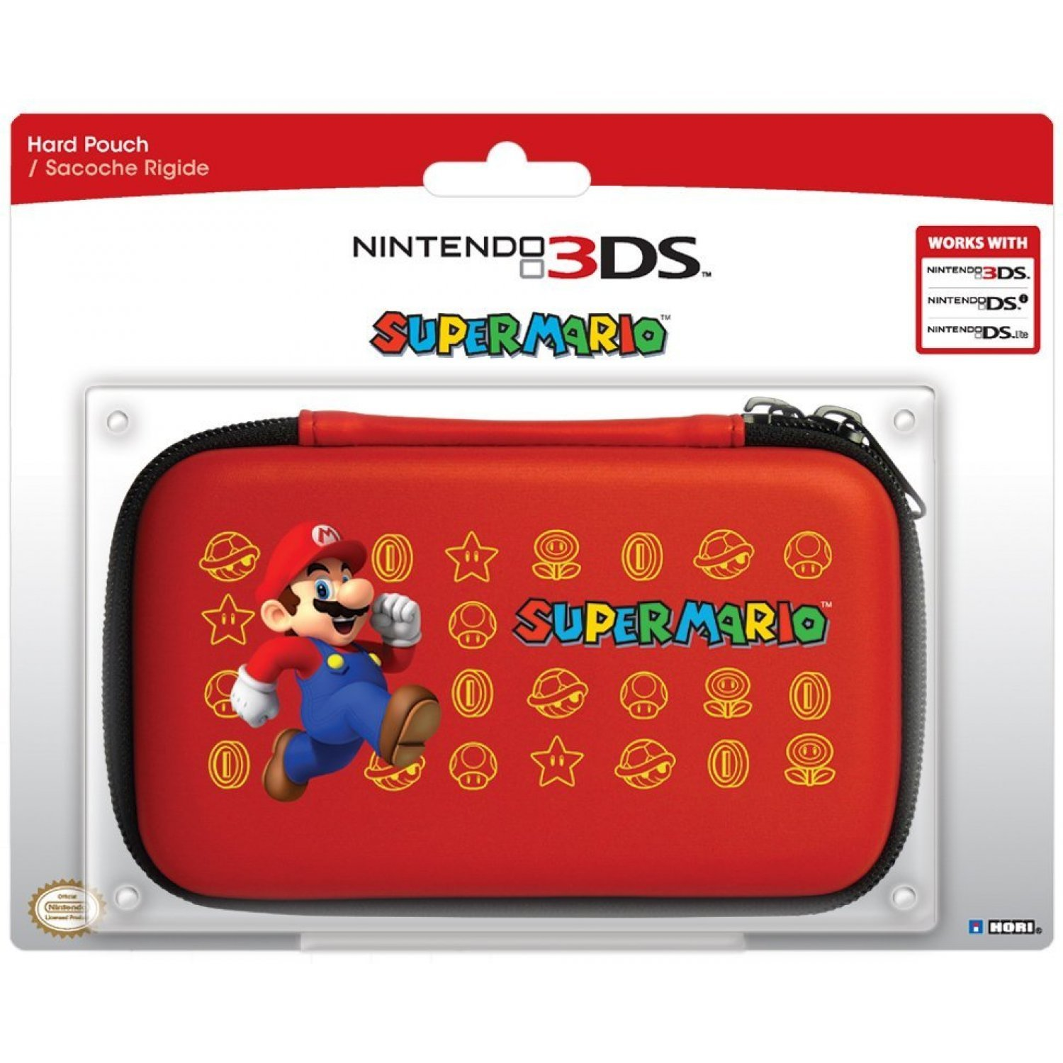 3ds hard pouch 3ds super mario version 2 red. Black Bedroom Furniture Sets. Home Design Ideas