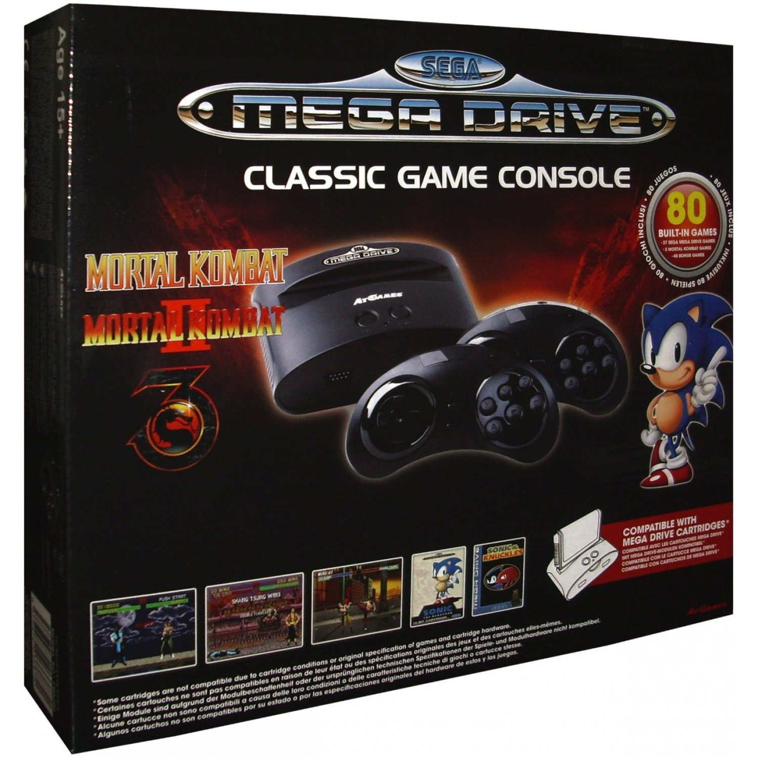 At games sega genesis classic game console 2015 version - Atgames sega genesis classic game console game list ...