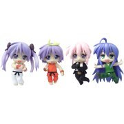 Nendoroid Petite Non Scale Pre-Painted Figure: Lucky Star x Street Fighter (Japan)