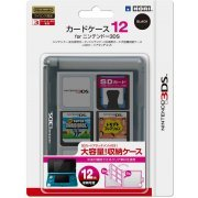 3DS Card Case 12 (Black) (Japan)
