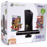 Xbox 360 Elite Slim Console (250GB) Kinect Bundle incl. Carnival Games: Monkey See, Monkey Do (Asia)