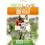 Xbox Live 12-Month Subscription Gold Card + 800 Points (FIFA 12 Ultimate Team) (Asia)