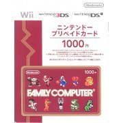 Nintendo Network Card / Ticket - Family Computer Edition (1000 YEN / for Japanese network only) [retail packing] (Japan)