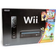 Wii Black Bundle (with New Super Mario Bros. Wii & Mario Music CD) (US)
