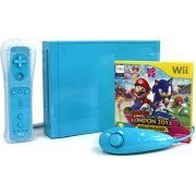 Nintendo Wii Console with Mario and Sonic at the London 2012 Olympic Games (New Slim-Style) (Blue) (Europe)