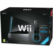 Nintendo Wii Black Bundle (incl. Wii Sports & Wii Sports Resort) (Europe)