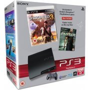 PlayStation3 Slim Console (320GB Black Model) with Uncharted 3 and Faster (Blu-ray Movie) Bundle (Europe)