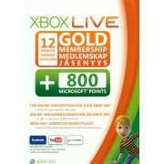 Xbox Live 12-Month Subscription Gold Card + 800 Points (Europe)