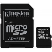 Kingston microSDHC 16GB Kit, UHS-I/Class 10