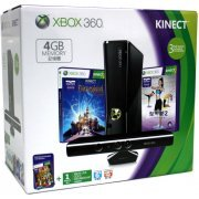 Xbox 360 4GB Kinect Holiday Bundle (Kinect Disneyland Adventures, Kinect Adventures & Your Shape Fitness Evolved 2012 Games) (Asia)