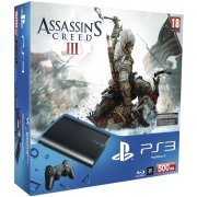 PlayStation3 New Slim Console - Assassin's Creed III Bundle Pack (500GB Charcoal Black Model) (UK Plug) (Europe)