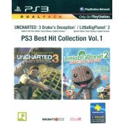Uncharted 3: Drake's Deception (Game of the Year) + LittleBigPlanet 2 (Special Edition) (PlayStation3 the Best) (PS3 Best Hit Collection Vol. 1) (Asia)