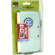 TPU Yawakata Cover for 3DS LL (Clear Mint) (Japan)