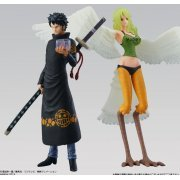 Super One Piece Styling Pre-Painted Candy Toy: Trafalgar Law & Monet (Japan)