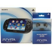 PS Vita PlayStation Vita (Wi-Fi Model) + Earphones (Black) [Play-Asia.com Bundle Set] (Asia)