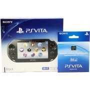 PS Vita PlayStation Vita New Slim Model - PCH-2000 (Black) [with 64GB Memory Card] (Japan)