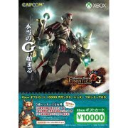 Xbox Gift card 10000 Point [Monster Hunter Frontier GG Edition] (Japan)
