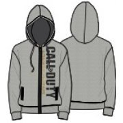 Activision Call of Duty: Advanced Warfare Vertical Logo Zipper Hoodie - Men (Grey) (XL)