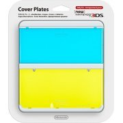 New Nintendo 3DS Cover Plates No.021 (Clear Blue & Yellow) (Japan)