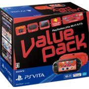 PlayStation Vita Value Pack Wi-Fi Model (Red Black) (Japan)