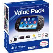 PlayStation Vita Super Value Pack 3G/Wi-Fi Model (Crystal Black) (Japan)