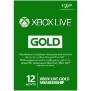 Xbox Live Gold 12-Month Membership digital (Region Free)