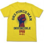 One Punch Man T-shirt Yellow S: One Punch Man College (Japan)