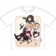 Is the Order a Rabbit?? Dry Mesh T-Shirt M: Cocoa & Sharo & Chiya Music (Japan)