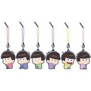 Osomatsu-san Bocchi-kun Trading Rubber Strap (Set of 6 pieces) (Japan)
