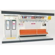 Component Model Series 1/12 Scale: Interior Model Series Commuter Train (Orange Seat Type) (Japan)