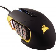 Corsair Gaming Scimitar RGB Optical MOBA/MMO Mouse, USB (Yellow)