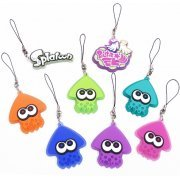 Splatoon Squid Rubber Strap (Set of 8 pieces) (Japan)