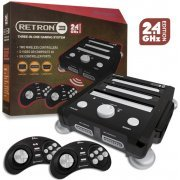 SNES/ Genesis/ NES Hyperkin RetroN 3 Gaming Console 2.4 GHz Edition (Onyx Black) (US)