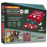 SNES/ Genesis/ NES Hyperkin RetroN 3 Gaming Console 2.4 GHz Edition Game Bundle (Laser Red) (US)