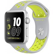 Apple Watch Nike+ Series 2 38mm with Flat Silver/Volt Nike Sport Band (Silver) (Hong Kong)