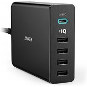 Anker PowerPort+ 5 Charger USB-C with USB Power Delivery (Black)
