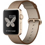 Apple Watch Series 2 42mm with Toasted Coffee/Caramel Woven Nylon (Gold) (Hong Kong)