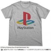 PlayStation T-shirt Heather Gray: First Generation PlayStation (L Size) (Japan)