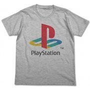 PlayStation T-shirt Heather Gray: First Generation PlayStation (XL Size) (Japan)