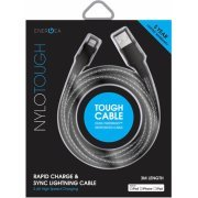 Energea NyloTough Lightning Cable 3m (Black)